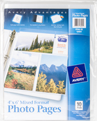"Mixed Format Photo Pages 4""X6"" 10/Pkg"