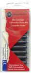 Blue - Manuscript Fountain Pen Ink Cartridges 12/Pkg
