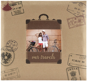 "Our Travels - MBI Expressions Post Bound Album W/Window 12""x12"""