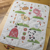 Farm Animals Crib Cover Stamped Cross Stitch Kit