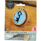 Mini Embroidery Hoop W/ Ring Punched For Cross Stitch