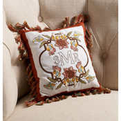 "Waverly-Charleston Chirp - Stamped Embroidery Monogram Pillow Kit 10""X10"""