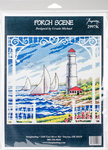 """10.5""""X10"""" 14 Count - Porch Scene Counted Cross Stitch Kit"""