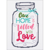 "5""X7"" 14 Count - My 1st Stitch Home Mason Jar Mini Counted Cross Stitch Kit"