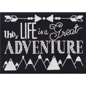 "7""X5"" 14 Count - My 1st Stitch Great Adventure Mini Counted Cross Stitch Kit"