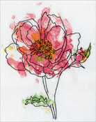 """8""""X10"""" 14 Count - Pink Floral Counted Cross Stitch Kit"""