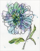 """8""""X10"""" 14 Count - Blue Floral Counted Cross Stitch Kit"""