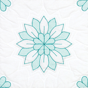 "Mandala Flower - Stamped White Quilt Blocks 18""X18"" 6/Pkg"