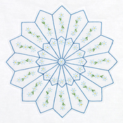 "Daisy Spray - Stamped White Quilt Blocks 18""X18"" 6/Pkg"