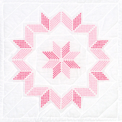 "XX Starburst - Stamped White Quilt Blocks 18""X18"" 6/Pkg"
