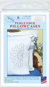 Daisy Spray - Stamped Pillowcases W/White Perle Edge 2/Pkg