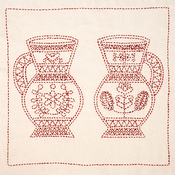 Pair Of Pitchers - Sashiko World Hungary Stamped Embroidery Kit