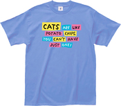 Extra Large - L.A. Imprints Cats Are Like Potato Chips T-Shirt