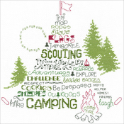 "9""X9"" 14 Count - Let's Go Camping Counted Cross Stitch Kit"