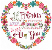 "8.75""X8.5"" 14 Count - Flower Friends Counted Cross Stitch Kit"