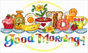 "10.5""X6.5"" 14 Count - Good Morning Breakfast Counted Cross Stitch Kit"