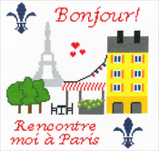 "8.5""X9"" 14 Count - Meet Me In Paris Counted Cross Stitch Kit"