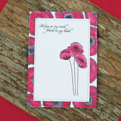 Poppy Fields - Hunkydory For The Love Of Stamps A6