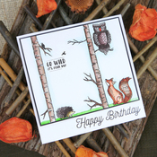 Woodland Wildlife - Hunkydory For The Love Of Stamps A6