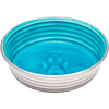 Seine Blue - Le Bol Small Le Bols are gorgeous, extremely durable, stainless steel bowls with a ceramic-like interior. Interiors are brightly colored with a look of ceramic overstain, which highlights the ribbed walls and embossed paw in the bottom. Dishwasher safe. This package contains one 5.25x5.25x1.75 inch bowl with a rubber base. Comes in a variety of colors. Each sold separately. Imported.