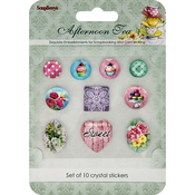 10/Pkg - ScrapBerry's Afternoon Tea Crystal Stickers