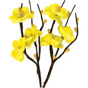 "Cherry Blossom Light Yellow - ScrapBerry's Flower Stems 1""X4.33"" 2/Pkg"