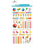 "Summer Fun - Paper House Life Organized Epoxy Stickers 6.5""x3.5"""