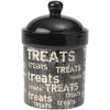 Vintage - PetRageous Designs Tret Jar 9  A hand-crafted stoneware jar perfect for storing treats. Dishwasher and microwave safe. This package contains one 5.25x5.25x9 inch treat jar. Imported.