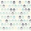 Beach Huts Paper - Summer Splash - KaiserCraft
