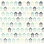 Beach Huts Paper - Summer Splash - KaiserCraft