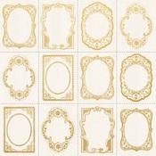 Gold Foil Frame Paper - Romantique - KaiserCraft