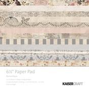 Romantique 6 x 6 Paper Pad - KaiserCraft