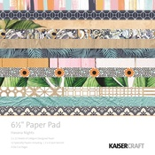 Havana Nights 6 x 6 Paper Pad - KaiserCraft