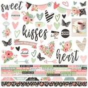 Romance Combo Stickers - Simple Stories