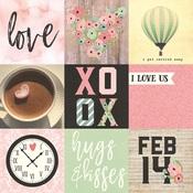 Element 4 x 4 Card Paper - Romance - Simple Stories