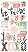 Romance Chipboard Stickers - Simple Stories