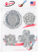 Flowers - U-Paint Metal Embellishments 4/Pkg