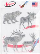 Forest Wild Life - U-Paint Metal Embellishments 4/Pkg