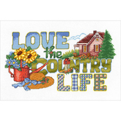 "13.5""X8"" 14 Count - Love The Country Life Counted Cross Stitch Kit"