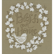 "8""X9"" 14 Count - Bless Our Home Counted Cross Stitch Kit"