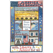 "7.25""X12.25"" 14 Count - Liberty For All Counted Cross Stitch Kit"