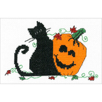 "6.75""X4.25"" 14 Count - Pumpkin Pals Counted Cross Stitch Kit"