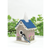 Birdhouse (7 Count) - Mary Maxim Plastic Canvas Tissue Box Kit 5""