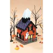 Haunted House (7 Count) - Mary Maxim Plastic Canvas Tissue Box Kit 5""