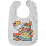 "9""X14"" Set Of 2 - Tee Pee Bears Bibs Stamped Cross Stitch Kit"