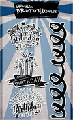 """Birthday Badges - Brutus Monroe Clear Stamps 4""""X6"""""""