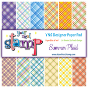 "Summer Plaid - Your Next Stamp Paper Pad 6""X6"" 24/Pkg"