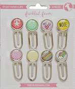 Spring - Freckled Fawn Epoxy Paper Clips 8/Pkg