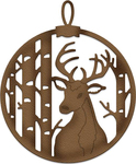 "Deer & Birch Ornament 2""X2.4"" - CottageCutz Elites Dies"