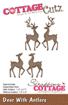 "Deer W/Antlers 1.2"" To 2.7"" - CottageCutz Dies"